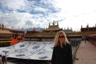 Nadine at Jokhang Temple