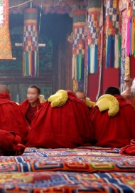 Monks at Assembly, Drepung Monastery