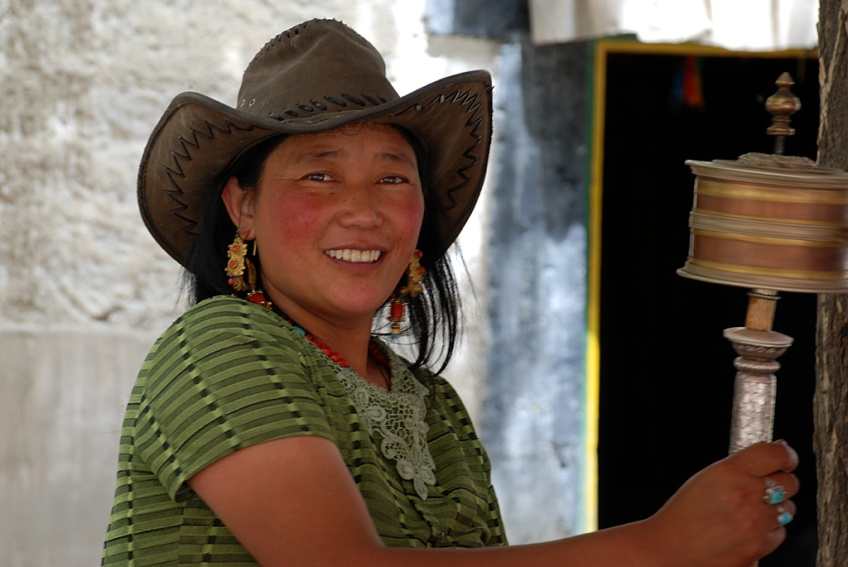 Woman in Cowboy Hat, Gyantse