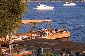 """The """"beach"""" at hotel Macakizi in Turkbuku near Bodrum"""